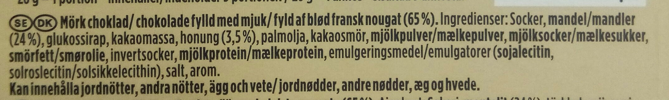 Fylld fransk nougat - Ingredients