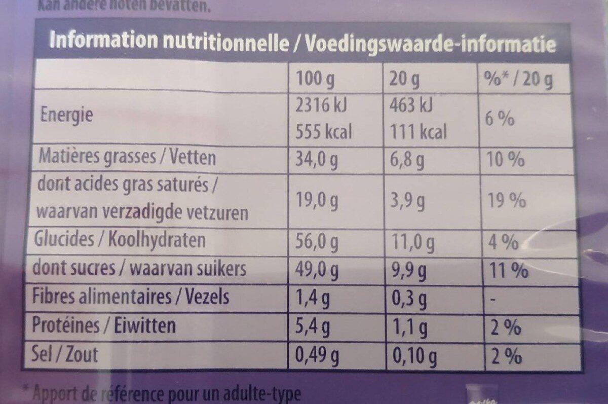 Milka Oreo - Voedingswaarden - fr