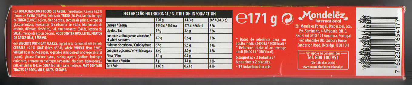 Digestive Go! - Nutrition facts