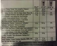 Twinnings Chai Latte - Informations nutritionnelles