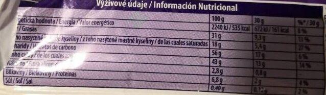 Choco Wafer - Informació nutricional - es