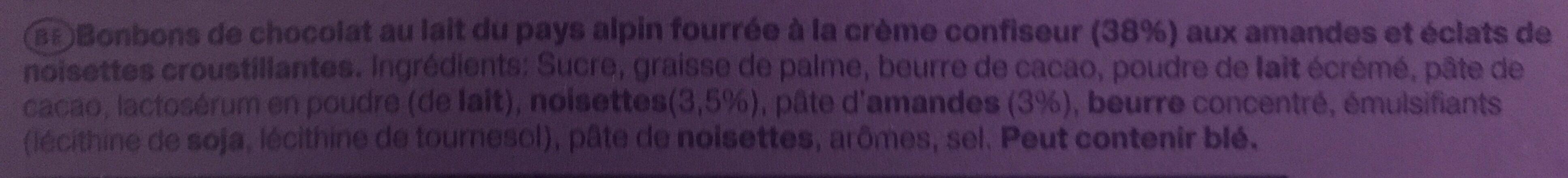 I Love Milka Pralines - Ingrediënten - fr