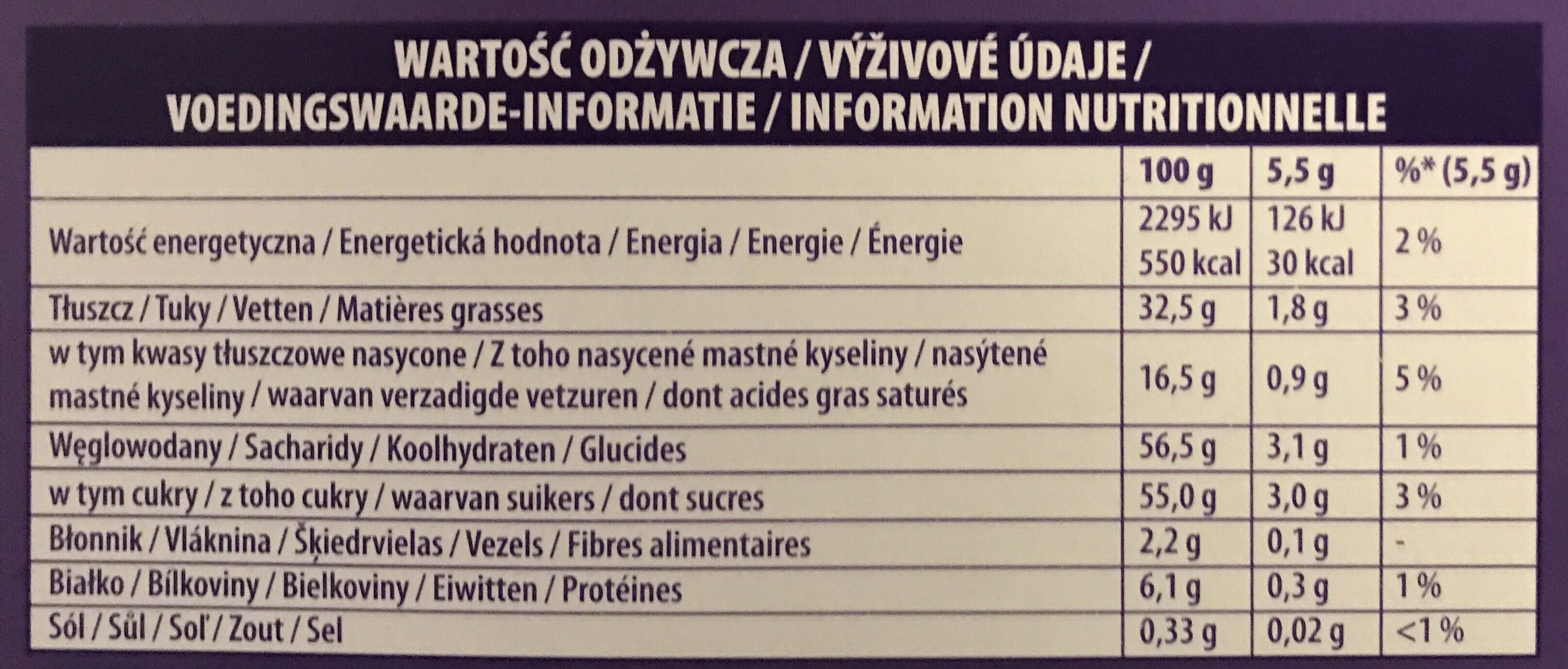 I Love Milka Pralines - Voedingswaarden - fr
