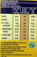 Belvita Breakfast - Fruit & Fibre - Nutrition facts