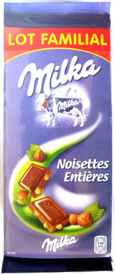 Chocolat Noisettes entières (Lot de 6) - Produit