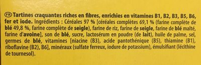 Cracottes fibres blé et seigle complets - Ingrédients - fr