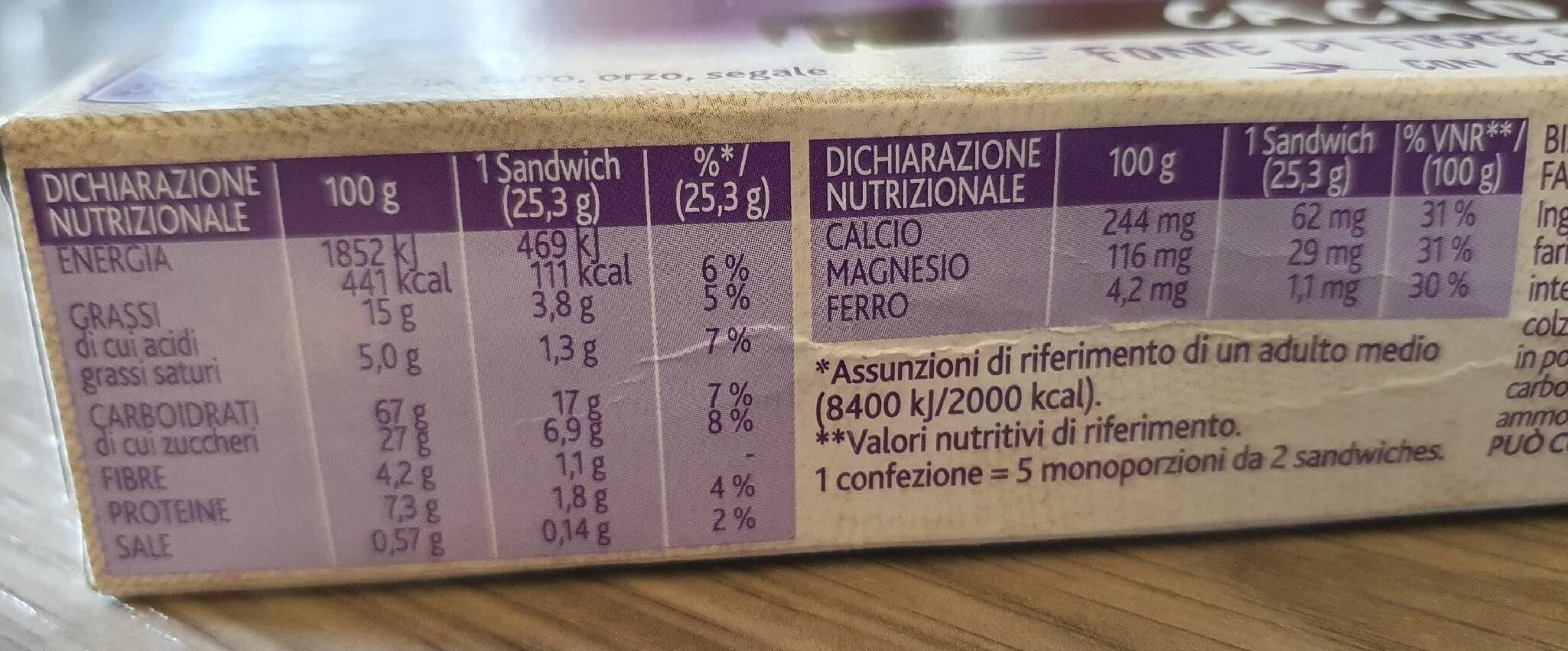 Vitasnella Cereal-yo Cacao, Cacao-keks Mit Jogurtf... - Informazioni nutrizionali - it