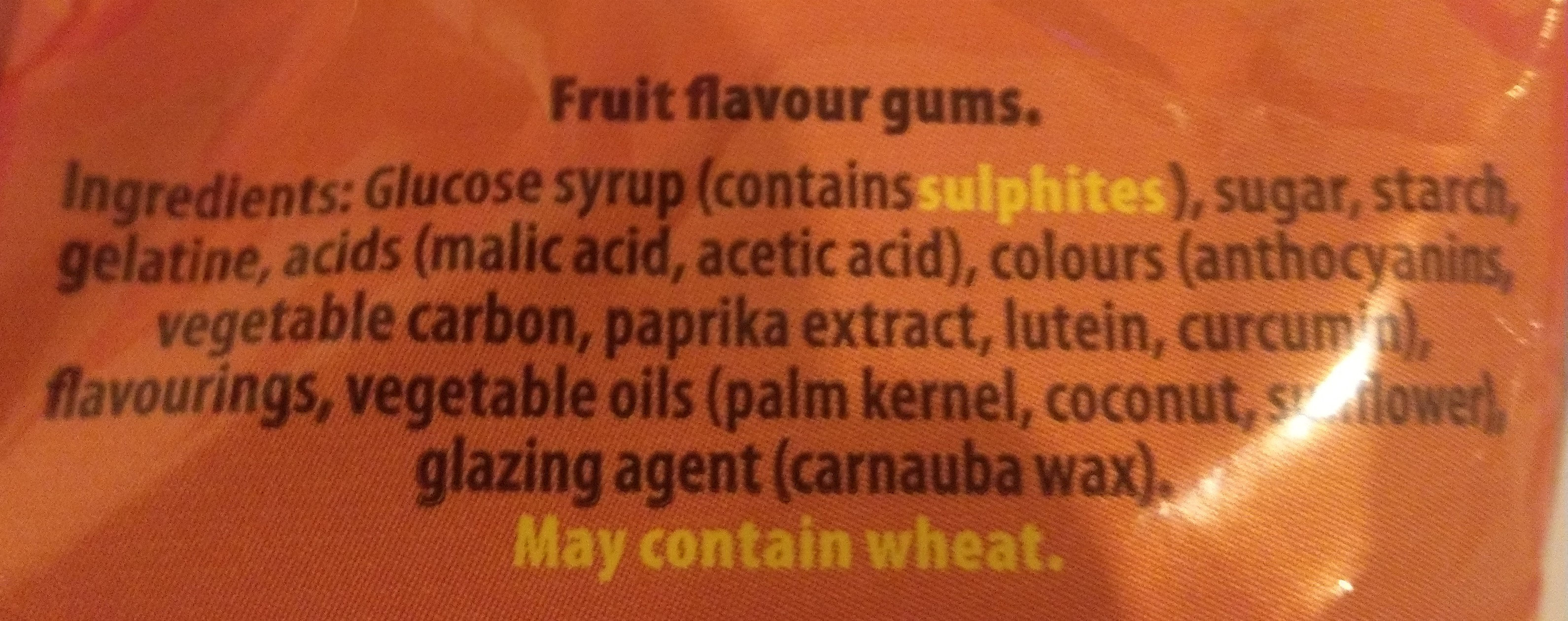 Maynards wine gums candy - Ingredients - en