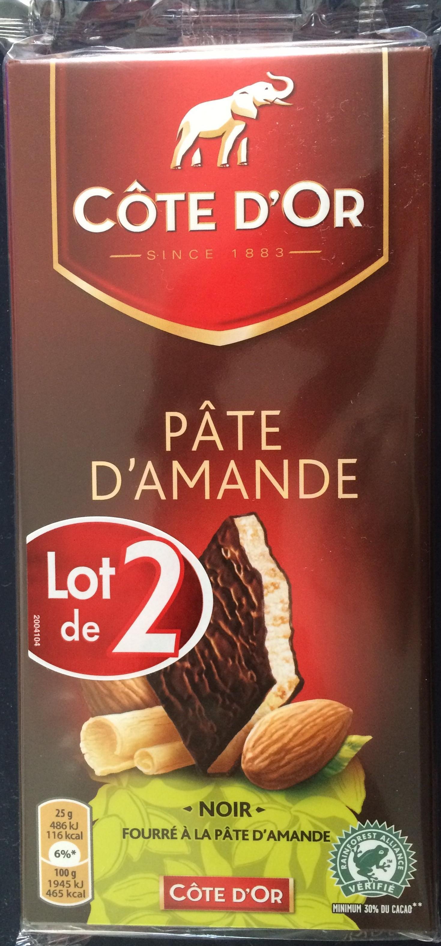 chocolat noir fourr 233 224 la p 226 te d amande c 244 te d or 150 g
