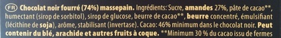 Chocolat Noir Pâte d'Amande - Ingrediënten
