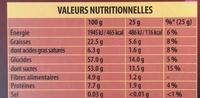 Chocolat Noir Pâte d'Amande - Voedingswaarden - fr
