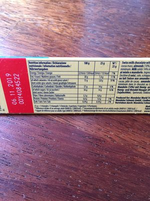 Tobleron crunchy almonds - 12
