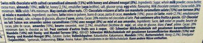 Tobleron crunchy almonds - Ingrediënten