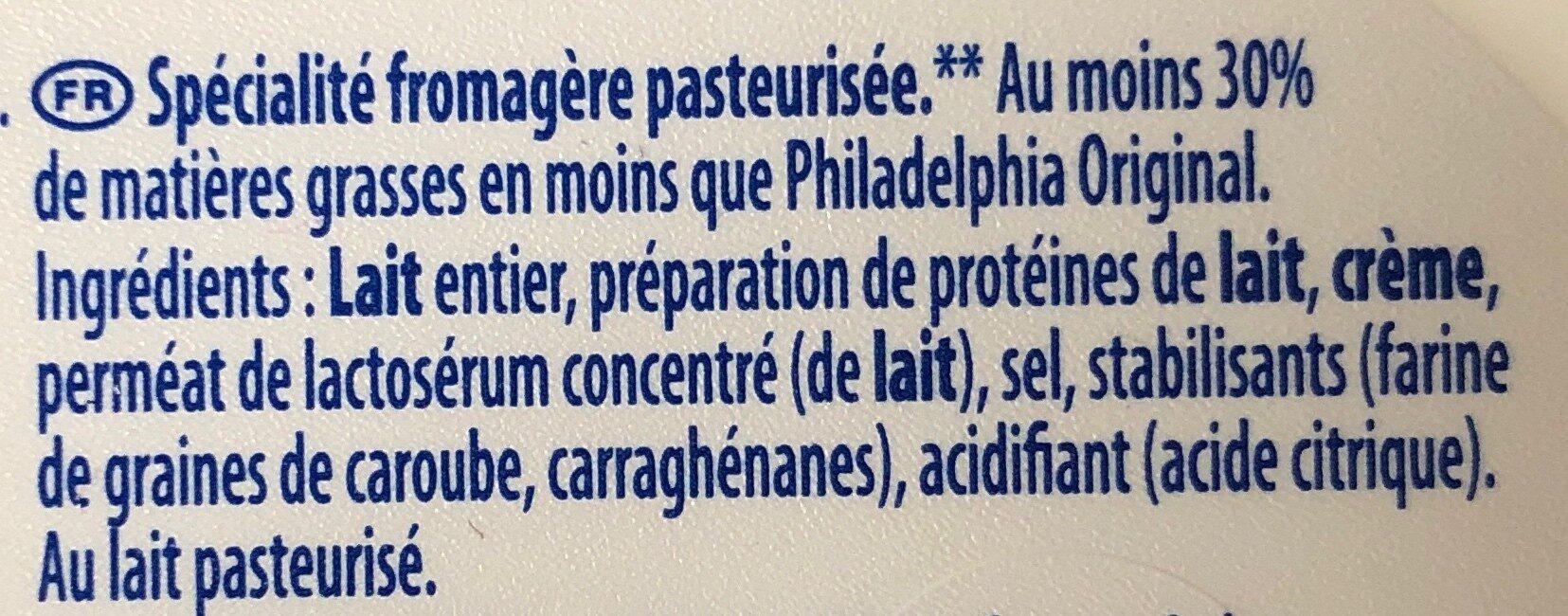 Philadelphia Light - Ingredients - fr