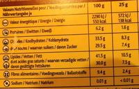 CHOCOLAT - Noix de coco - Noir 70% - Voedigswaarden