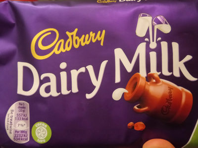 Cadbury dairy milk chocolate bar - Product