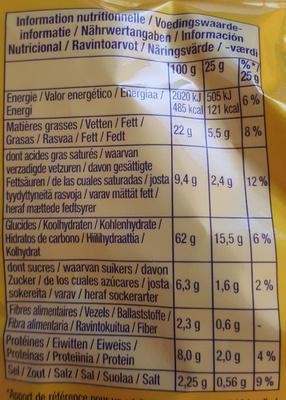 Tuc mini snacks - Voedingswaarden