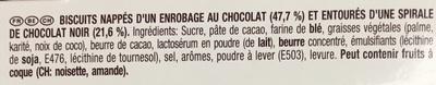 Mikado King Choco Chocolat - Ingredients