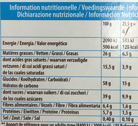 Mikado King Choco Chocolat - Nutrition facts