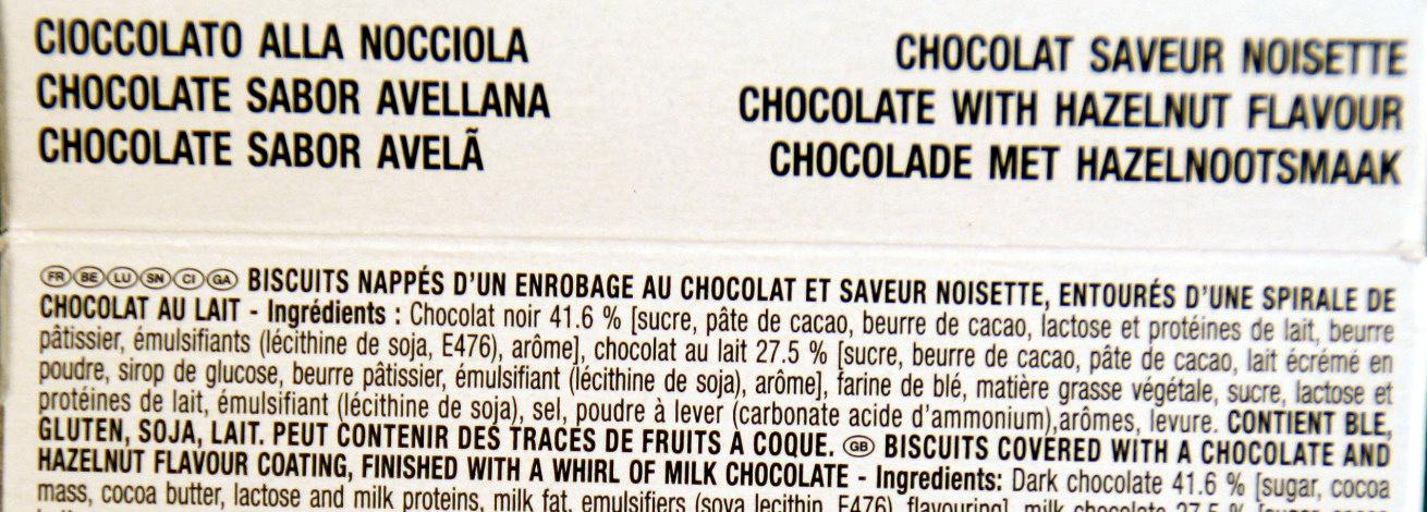 Mikado King Choco Chocolat saveur Praliné - Ingrédients