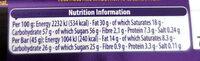 Dairy Milk - Nutrition facts - en