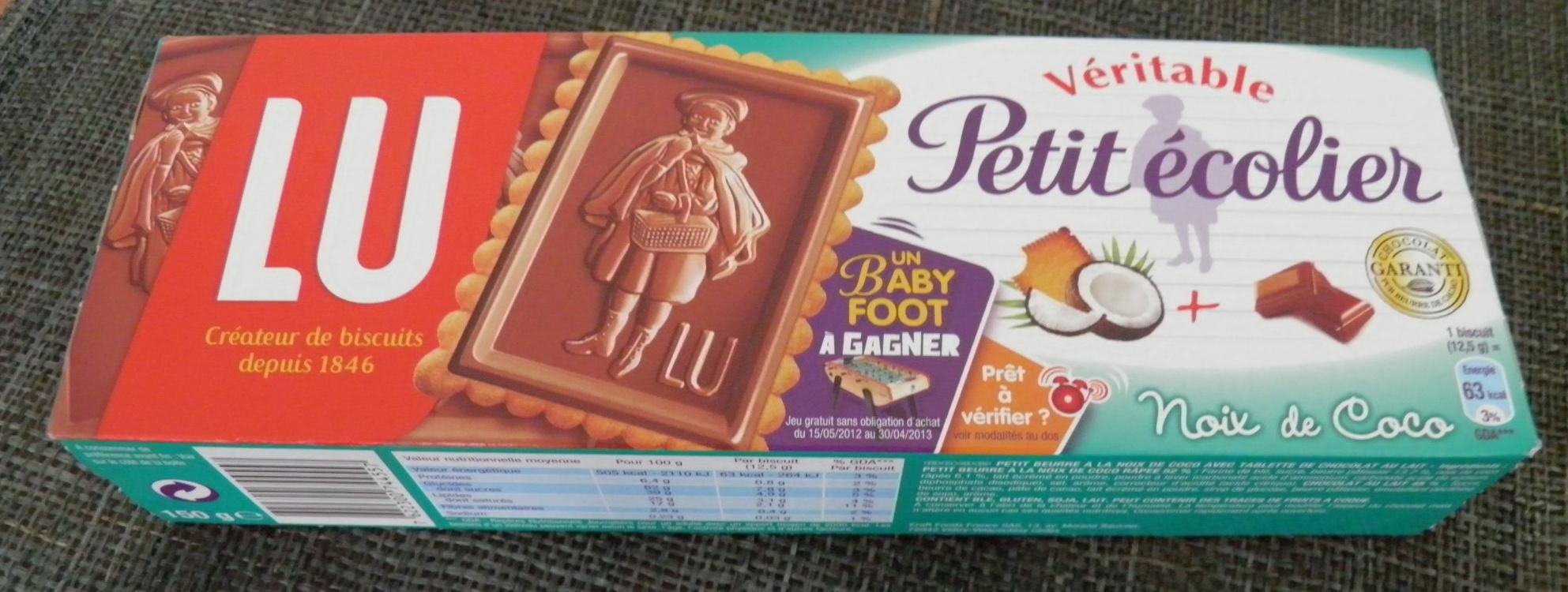 Véritable Petit Écolier Chocolat au Lait + Noix de Coco - Produit - fr