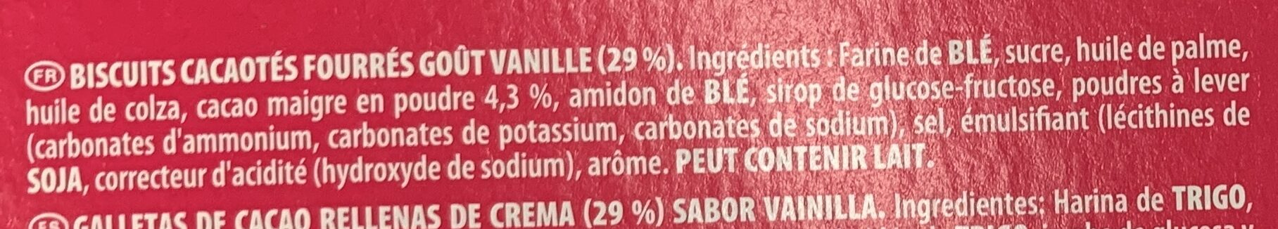 Oreo Original - Ingredients - fr