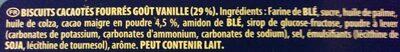 Oreo - Ingrédients - fr