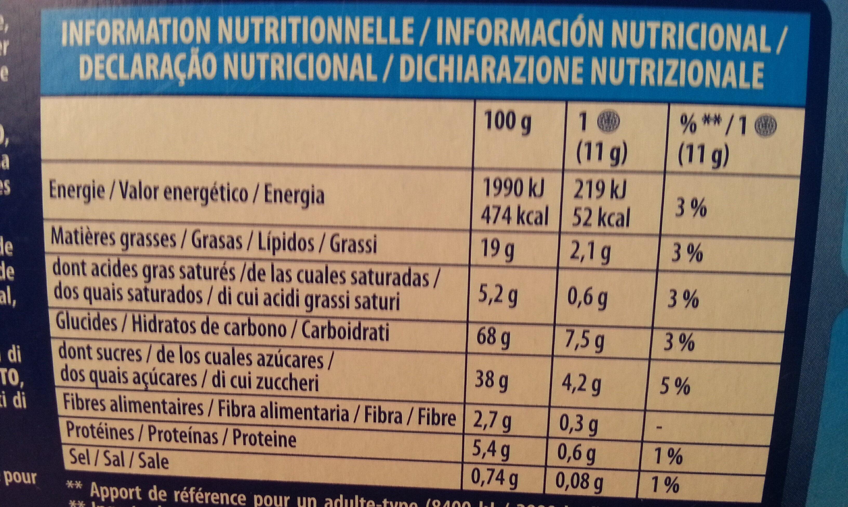 Original Oreo Vanila Lady Gaga - Información nutricional - es