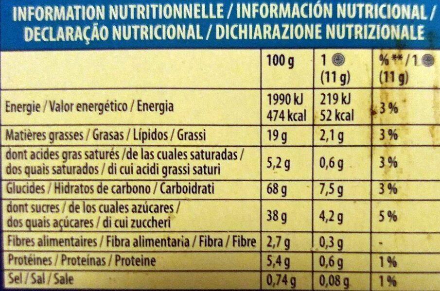 Oreo Original - Informations nutritionnelles - fr