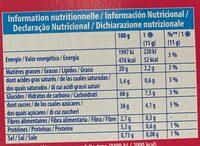 Oreo vanille - Informazioni nutrizionali - fr