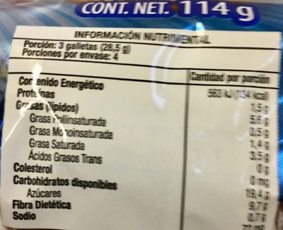 CHIPS AHOY - Nutrition facts