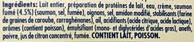 Philadelphia Saumon fumé & aneth (10% MG) - Ingredients