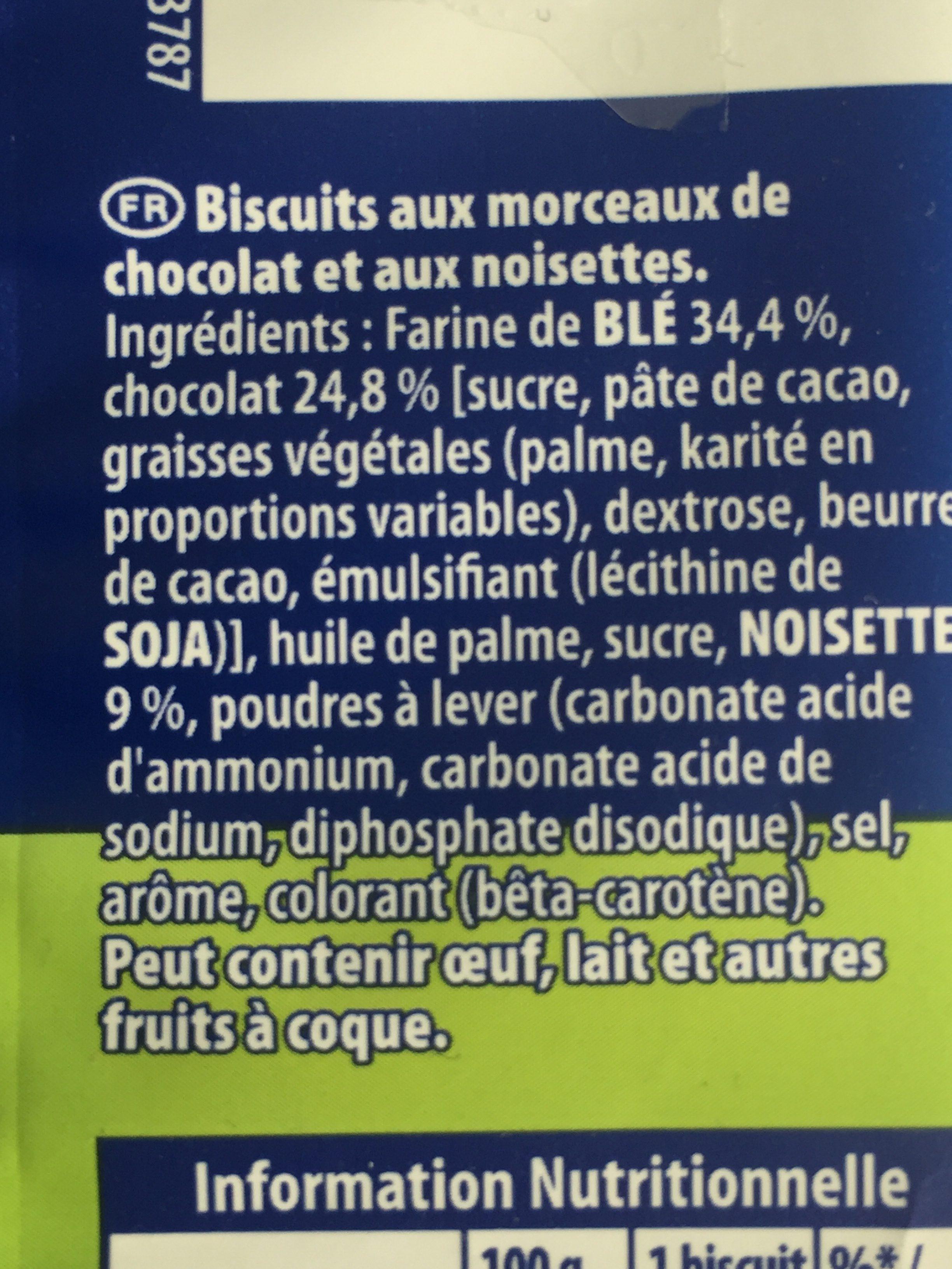 Granola Extra Cookies Chocolat Noisette - Ingredients