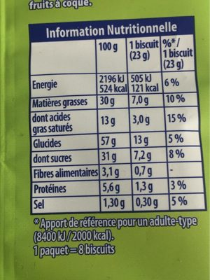 Granola Extra Cookies Chocolat Noisette - Nutrition facts