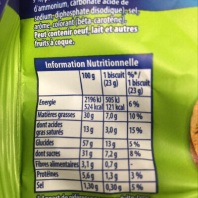 Granola Cookies Chocolat & Noisettes - Nutrition facts - fr