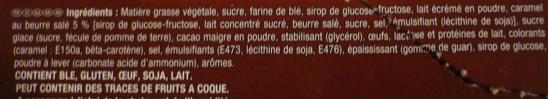 Napolitain Caramel beurre salé - Ingrédients