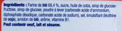Betterfood - Biscuit pour panades - Ingredients - fr