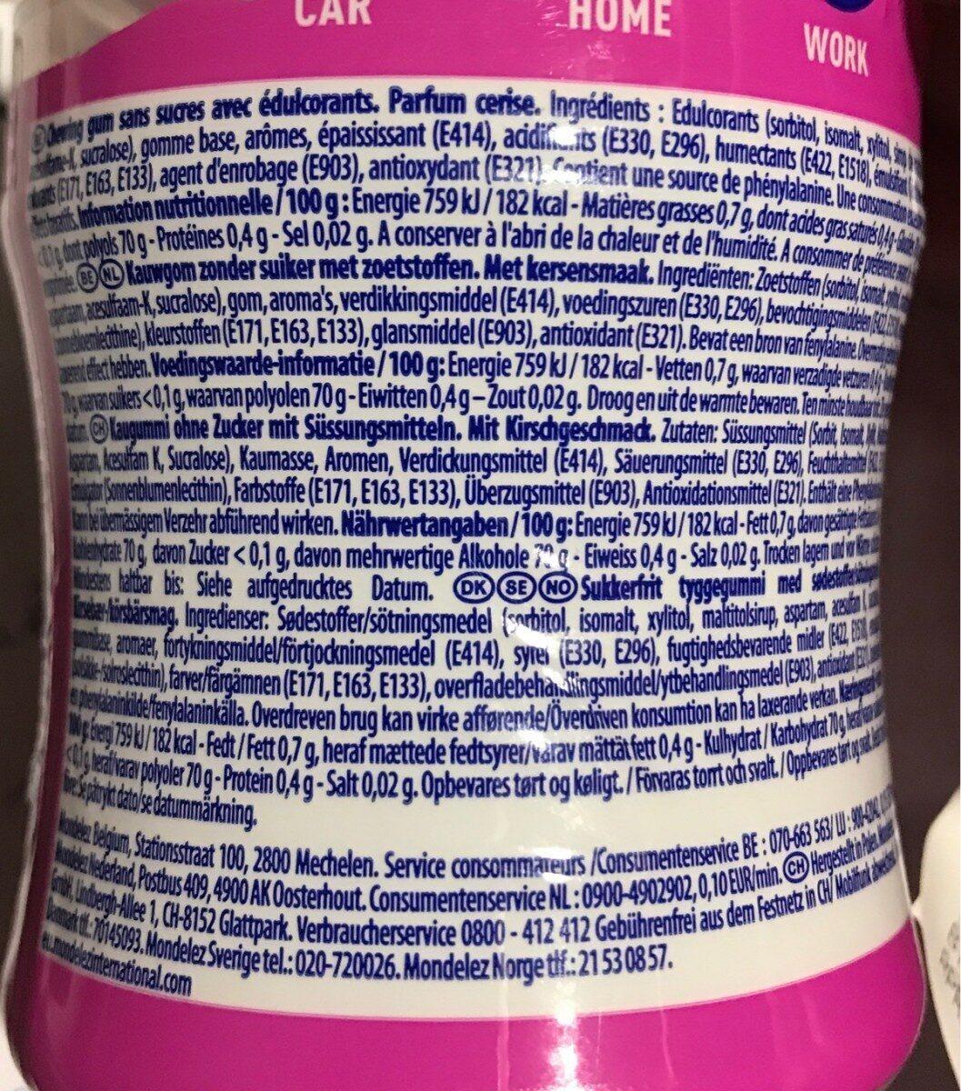 Stimorol Bottle Wild Cherry 70 Stuks - Nutrition facts - fr