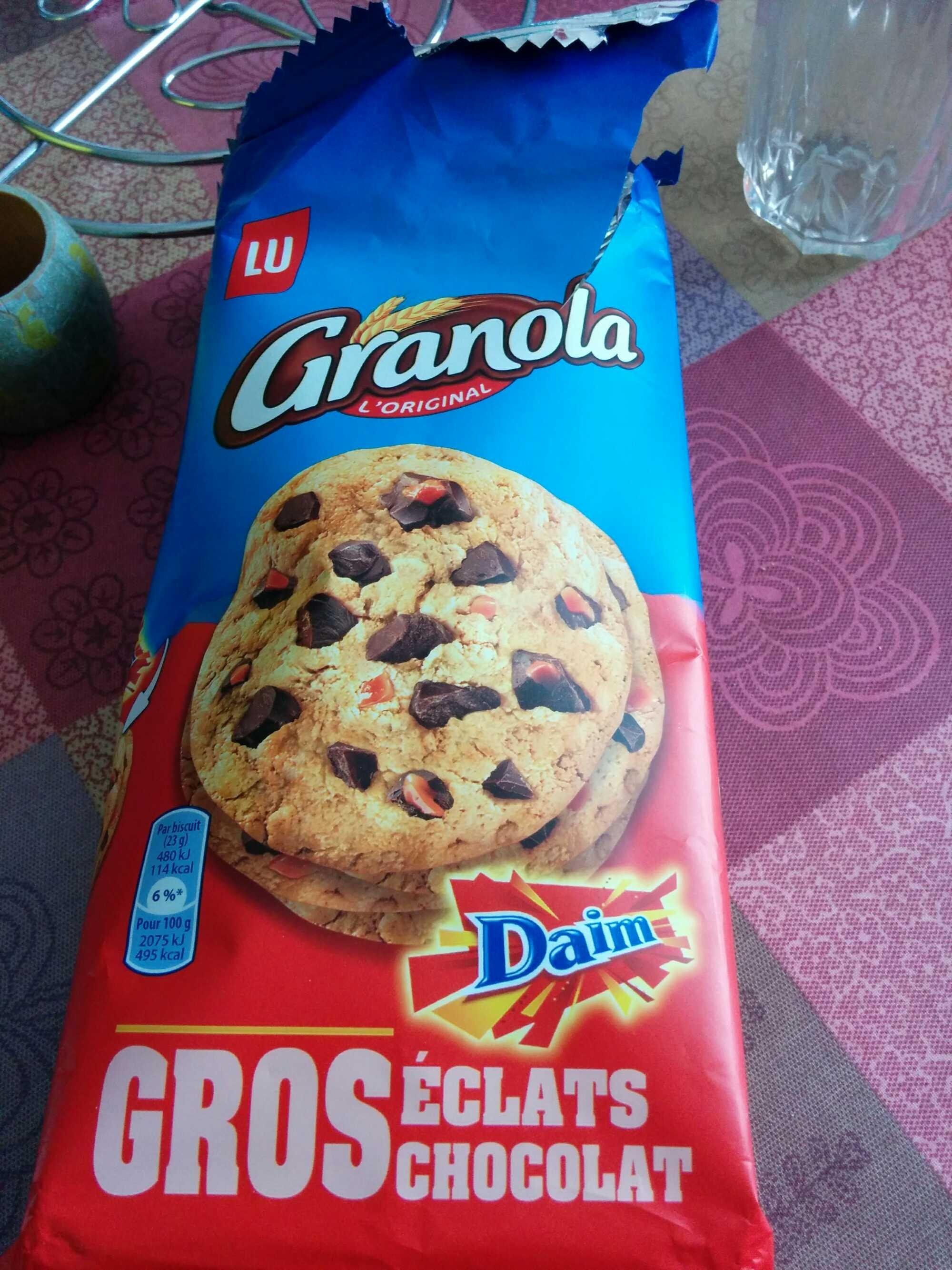Cookies Granola gros éclats chocolat Daim - Produit