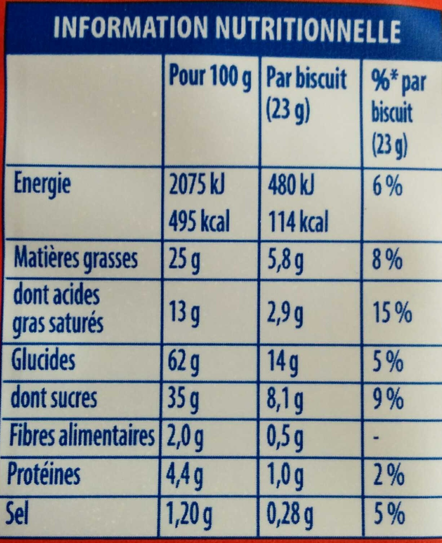 Granola Cookies Chocolat & Daim - Nutrition facts - fr