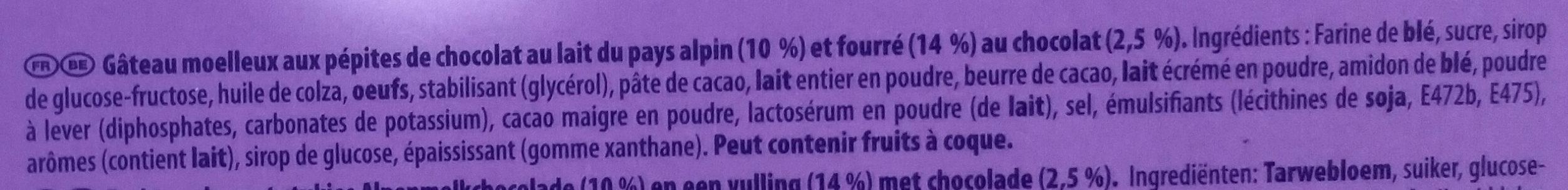 Cake & Choc - Ingredientes - fr