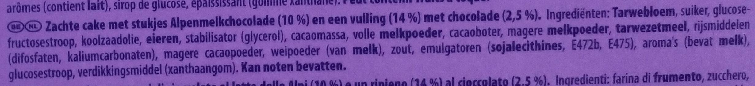 Cake & Choc - Ingrediënten - nl