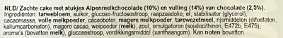 Cake & choc - Ingrediënten