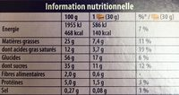 Choco trio - Informations nutritionnelles - fr