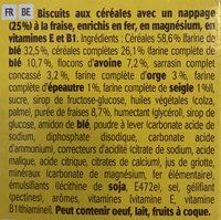 BelVita Petit Déjeuner Le Tartiné à la Fraise - Ingrédients