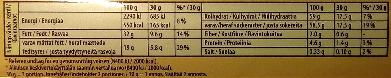 Marabou bubbly Mjölkchoklad - Informations nutritionnelles - sv