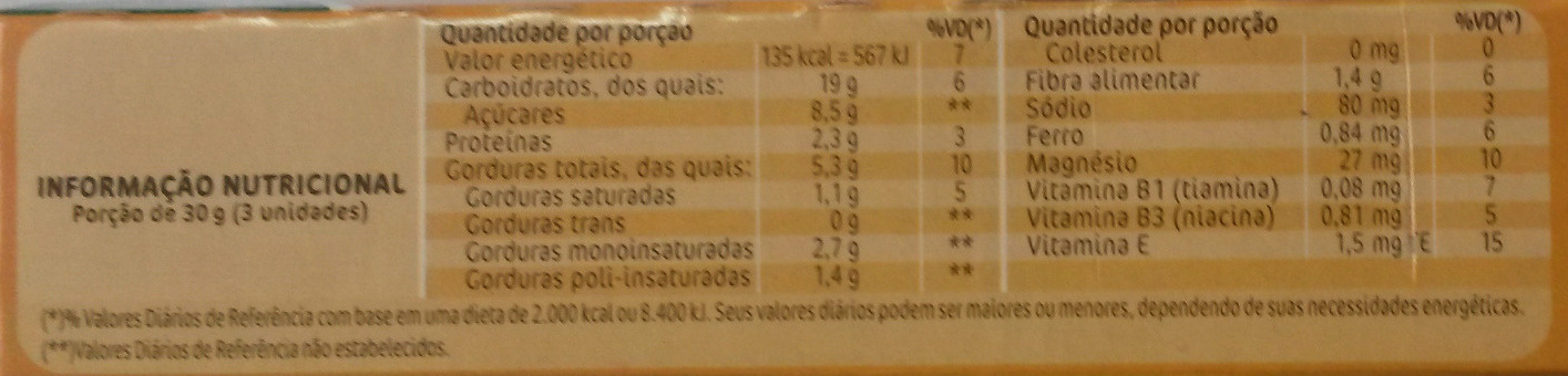 belVita Mel e Cacau - Nutrition facts