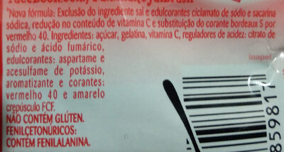 Gelatina de morango - Ingredientes - pt
