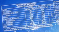 Oreo - Informations nutritionnelles - es